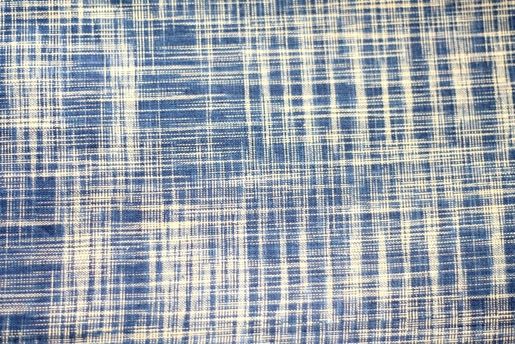 Indigo  woven cotton fabric