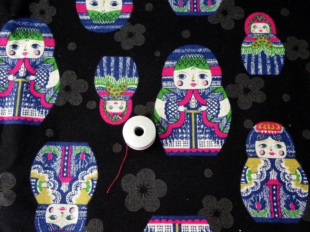 Matryoshka Russian Doll Japan Linen - Sold by Fat Quarter