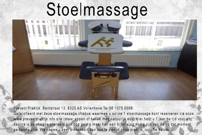 Stoelmassage cadeaubon