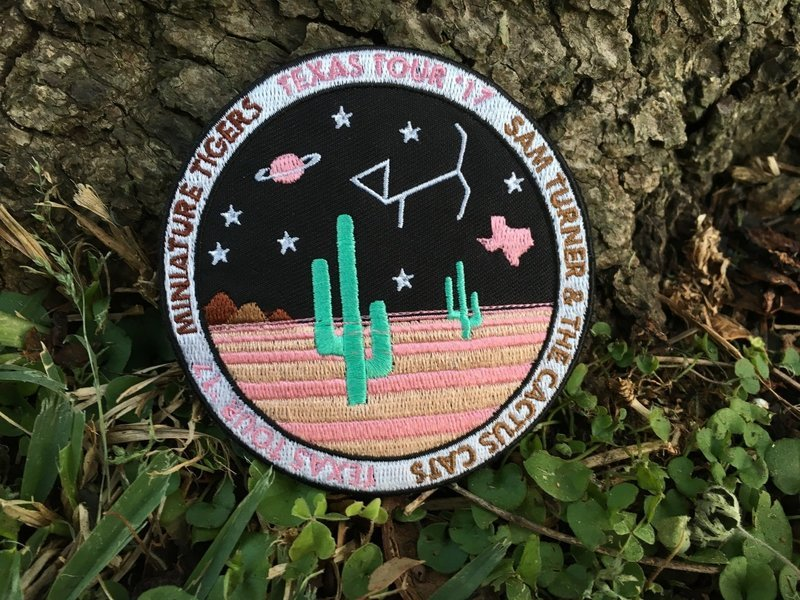SOLD OUT ): Sam Turner & the Cactus Cats // Miniature Tigers • Texas Tour '17 Embroidered Patch
