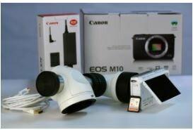 Spliter dublu + camera DSLR Canon M10