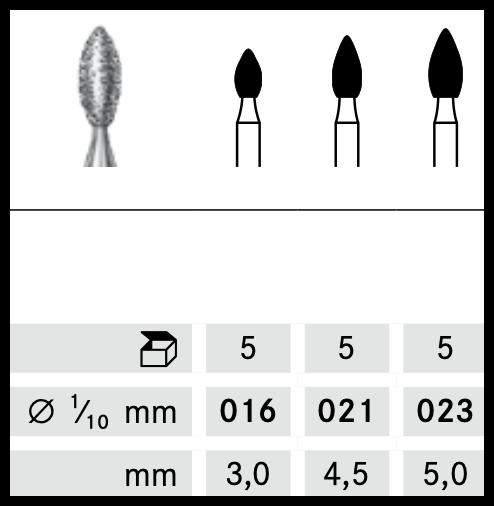 Freza diamantata 368 / 314 FG