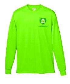 Camisetas de Color Unisex Microfibra Manga Larga (Dry fit) con Bordado