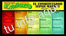 Calendario Tamaño Dollar