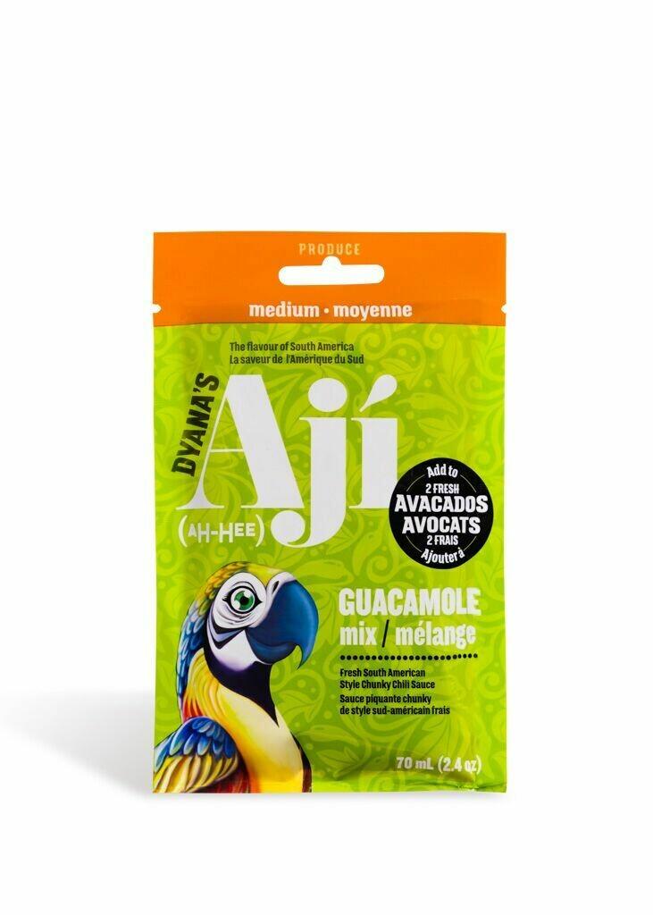 Aji Medium Hot, Pouch - Guacamole Mix (box of 12)