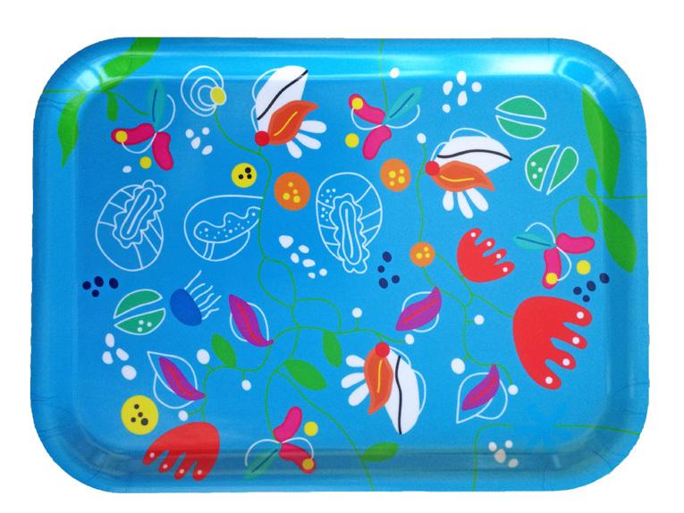 """Frukostbricka """"Ocean"""" ljusblå 27x20 cm"""