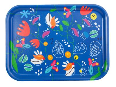 """Frukostbricka """"Ocean"""" blå/flerfärgad 27x20 cm"""