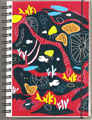 """Anteckningsbok """"Korall"""" röd, linjerad"""