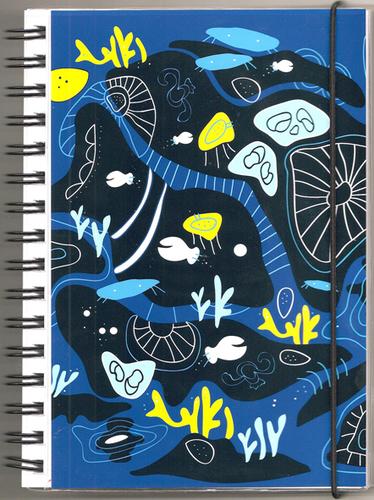 "Anteckningsbok ""Korall"" blå, blanka sidor"