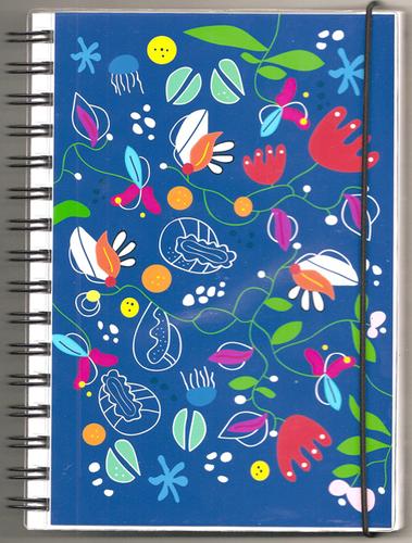 """Anteckningsbok """"Ocean"""" blå/flerfärgad, blanka sidor"""