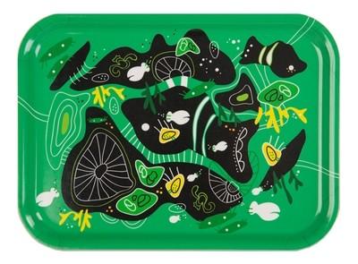"Frukostbricka ""Korall"" grön 27x20 cm"