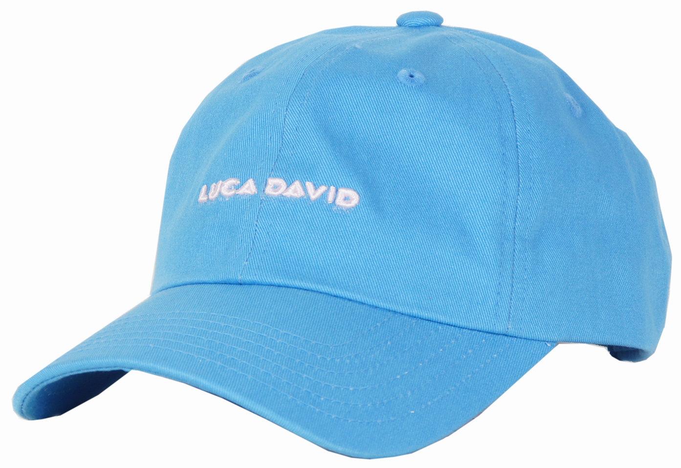 LUCA DAVID restricted Cap in Farbe denim blau