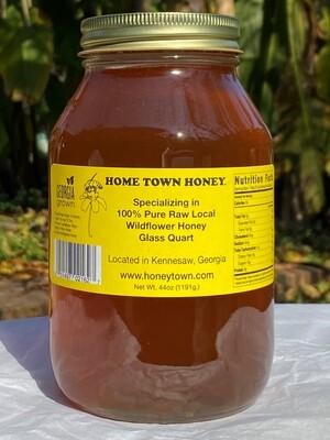 44 oz Glass Quart of Honey