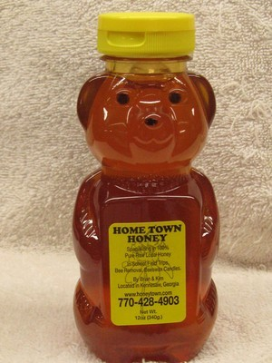12oz Plastic Honey Bear