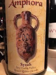 Amphora Syrah Unti Vineyards 1999