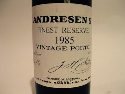 Andresen's Finest Reserve 1985