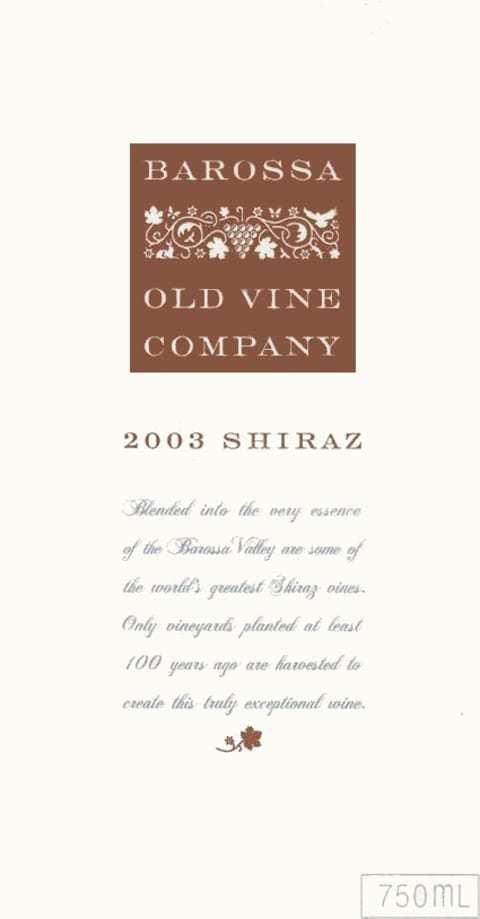 Barossa Old Vine Company Shiraz 2003