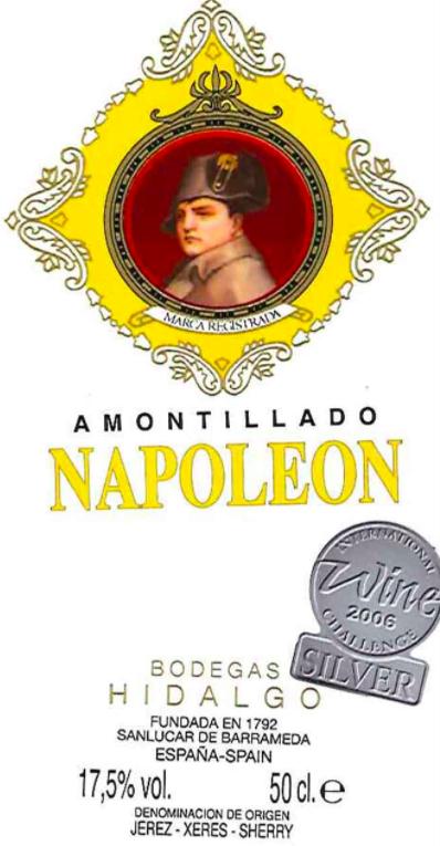 Bodegas Hidalgo La Gitana Napoleon Amontillado Sherry (500ml)