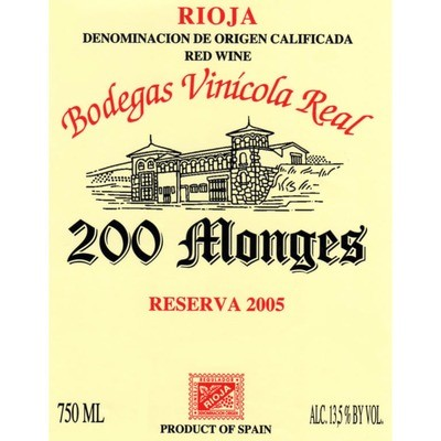 Bodegas Vinicola Real 200 Monges Reserva Especial 2005