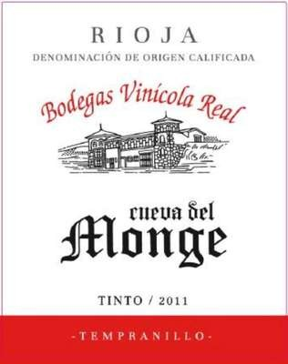 Bodegas Vinicola Real Cueva Del Monge Tempranillo 2011