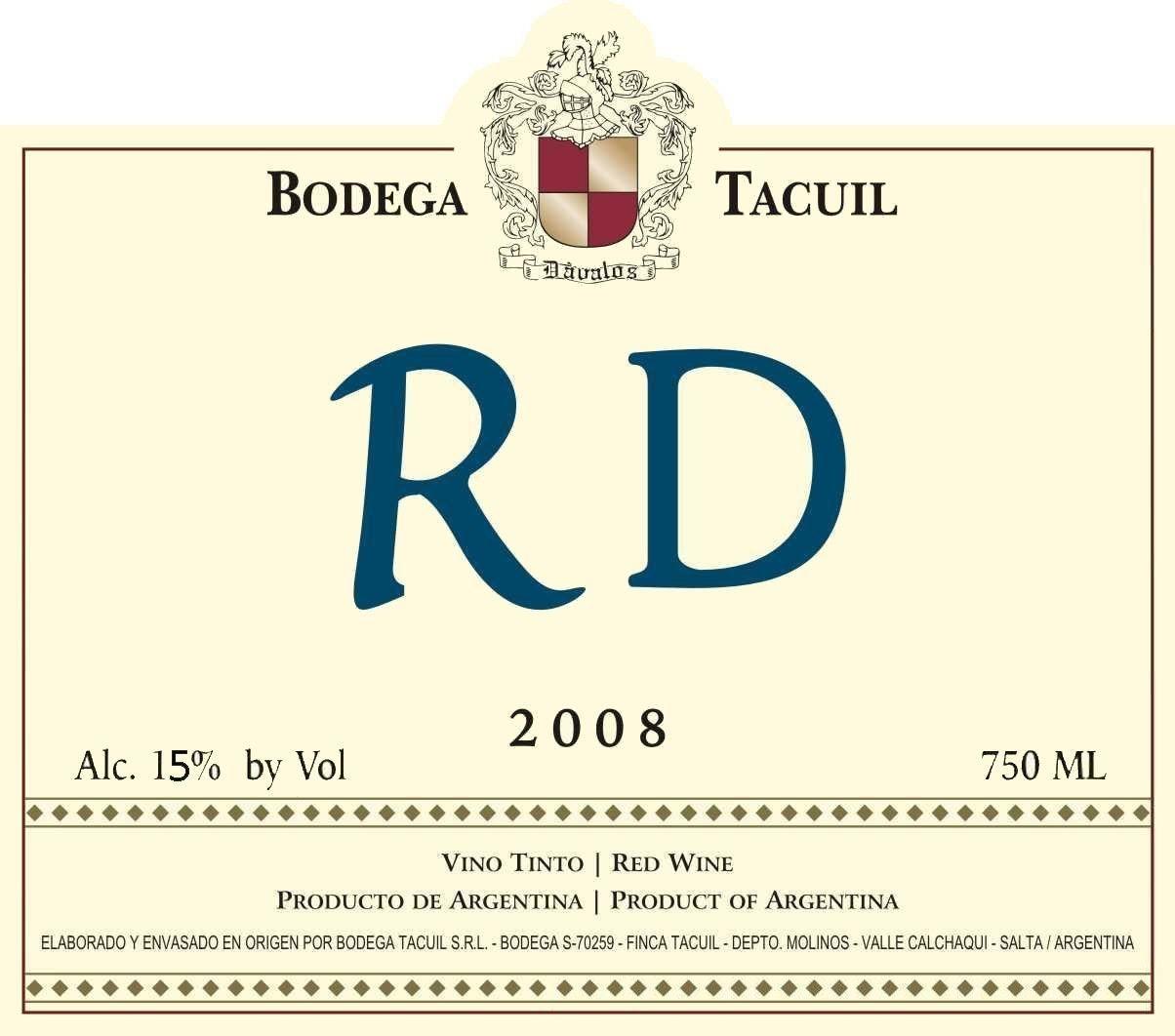 Bodega Tacuil RD 2008