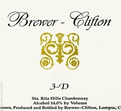 Brewer-Clifton Chardonnay 3-D 2010