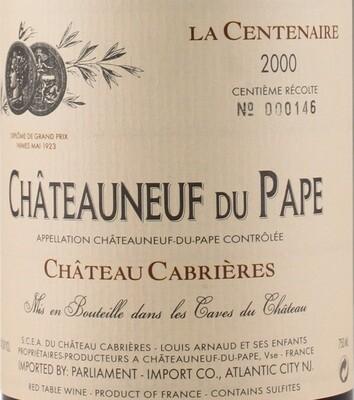 Cabrieres Chateauneuf du Pape Cuvee Centenaire 2000