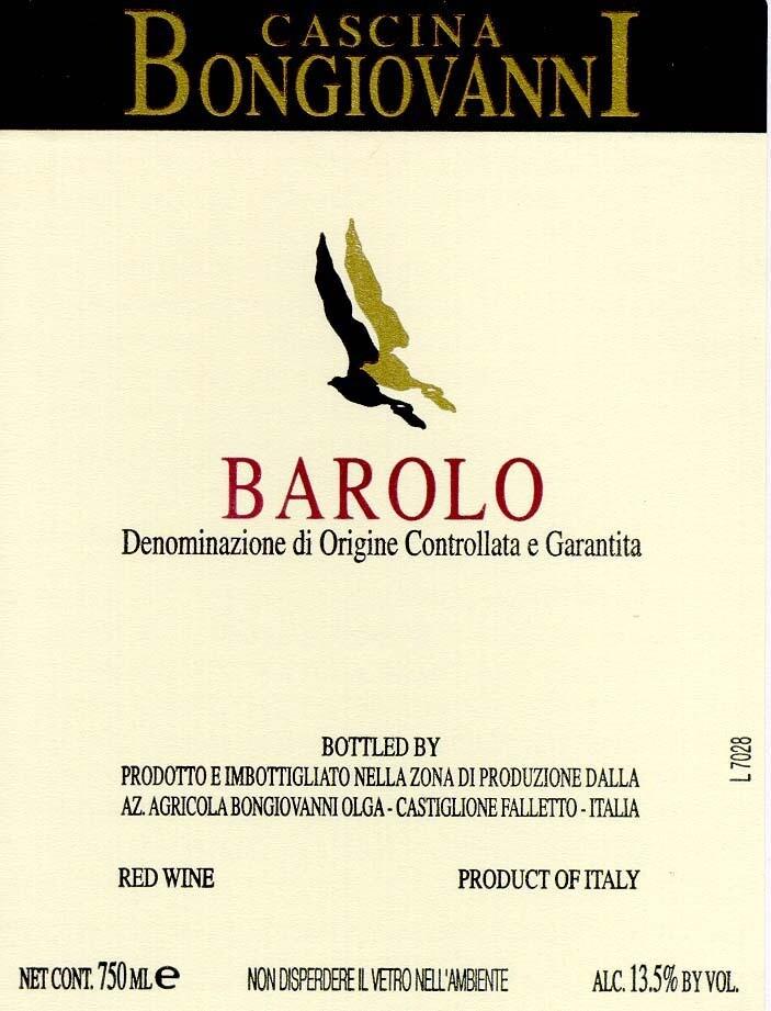 Cascina Bongiovanni Barolo 2008
