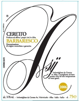 Ceretto Barbaresco Asij 2006