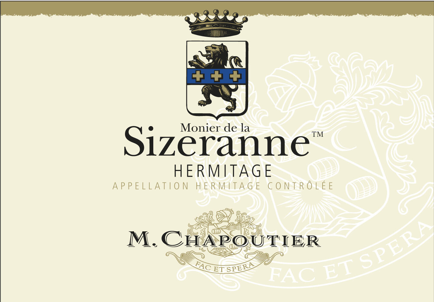 Chapoutier Hermitage Monier de la Sizeranne 1989