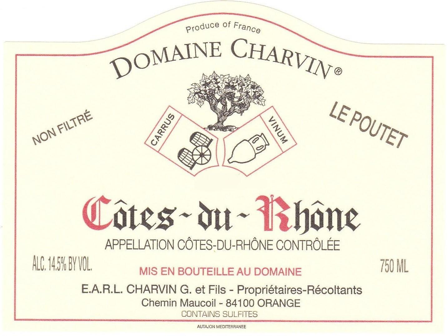 Charvin Cotes du Rhone le Poutet 1998
