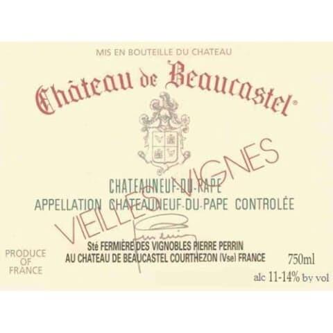 Chateau de Beaucastel Chateauneuf du Pape Blanc Vieilles Vignes 1997 [96pts WS]