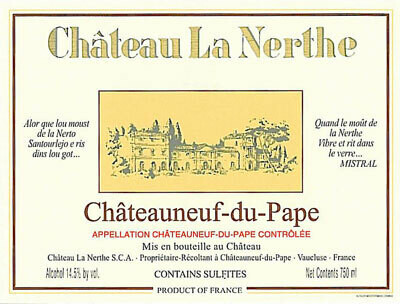 Chateau La Nerthe Chateauneuf du Pape 2011