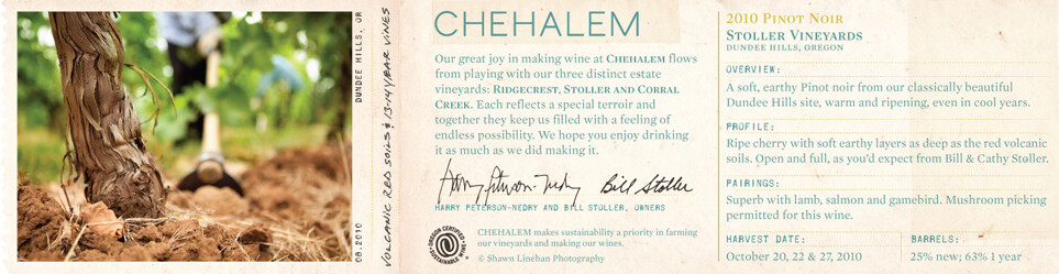 Chehalem Pinot Noir Stoller Vineyards 2010