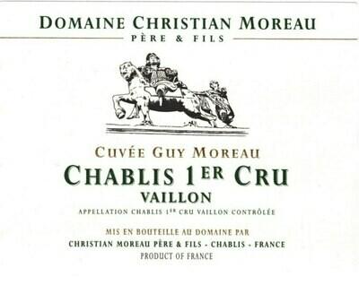 Christian Moreau Chablis Vaillons Cuvee Guy Moreau 2012