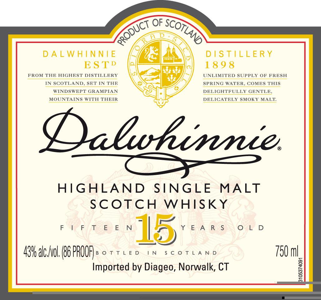 Dalwhinnie 15 Year Old Single Malt Scotch