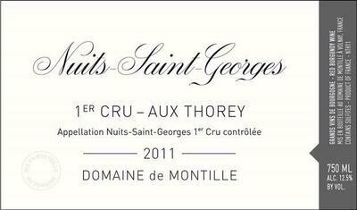 Domaine de Montille Nuits St Georges aux Thorey 2011