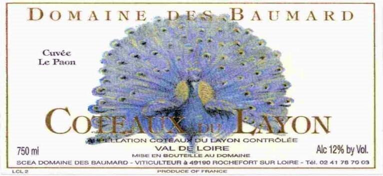 Domaine des Baumard Coteaux du Layon Cuvee le Paon 1989