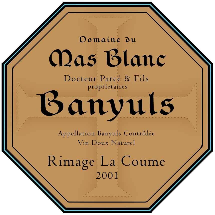 Domaine du Mas Blanc Banyuls Rimage la Coume 2001