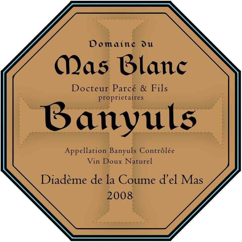 Domaine du Mas Blanc Banyuls Diademe de la Coume 2008 (375ml)
