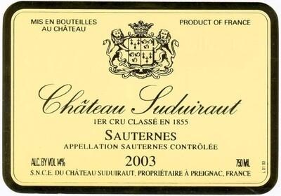 Suduiraut 2003 [96pts JS]