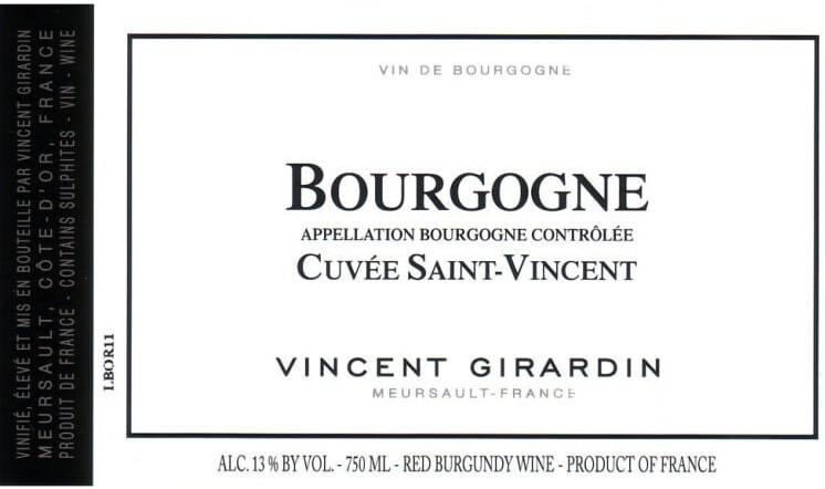 Vincent Girardin Bourgogne Cuvee St Vincent 2015