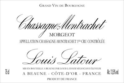 Louis Latour Chassagne-Montrachet Morgeots 2015