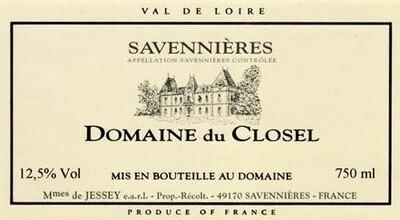 Domaine du Closel Savennieres Cuvee Non Filtree 1998