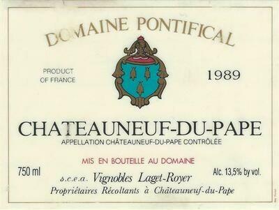 Domaine Pontifical Chateauneuf du Pape 1989