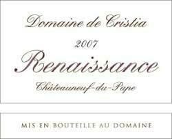 Domaine de Cristia Chateauneuf du Pape Cuvee Renaissance 2007 [96pts WA]