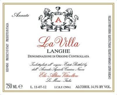 Elio Altare La Villa Rosso 2005