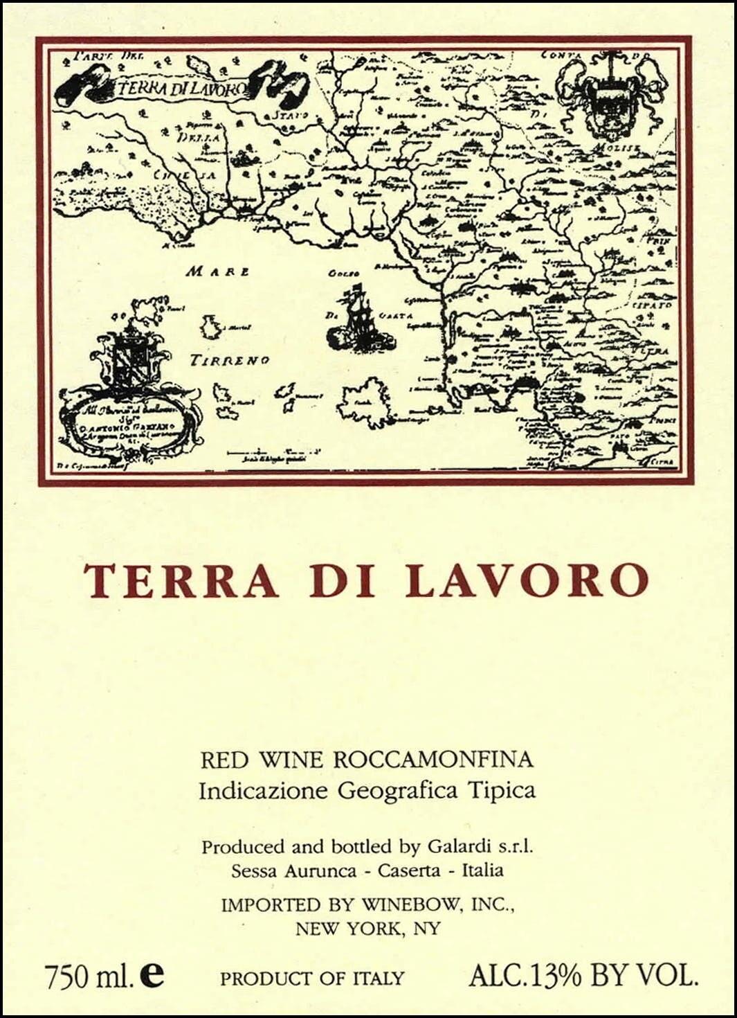 Fattoria Galardi Terra di Lavoro Roccamonfina 2003