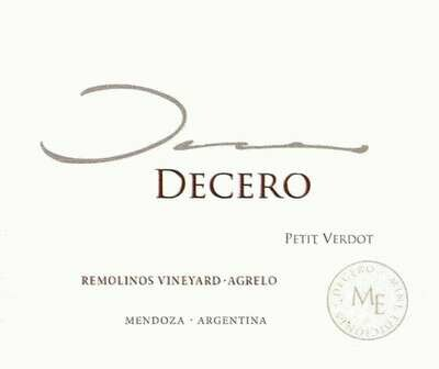 Finca Decero Petit Verdot Remolinos Vineyard 2012