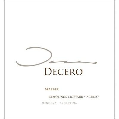 Finca Decero Malbec Remolinos Vineyard 2016